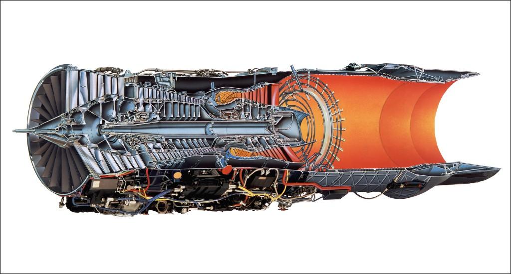 Двухконтурный турбореактивный двигатель.