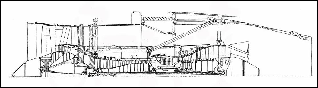 Схема типичного ТРДД (ПС-90А).